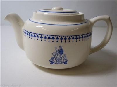 Lot 15 - BRITISH INDIA STEAM NAVIGATION COMPANY:  CHINA TEA POT BY ASHWORTH BROS. ENGLAND, CIRCA 1920