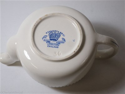 Lot 15-BRITISH INDIA STEAM NAVIGATION COMPANY:  CHINA TEA POT BY ASHWORTH BROS. ENGLAND, CIRCA 1920