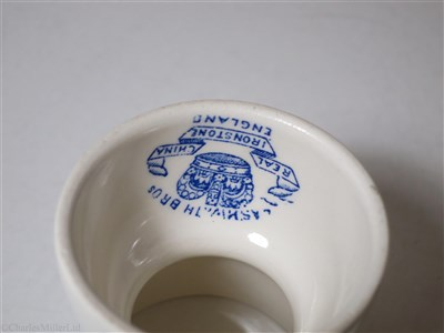Lot 16-BRITISH INDIA STEAM NAVIGATION COMPANY: TWO-ENDED EGG CUP BY ASHWORTH BROS. ENGLAND, CIRCA 1920