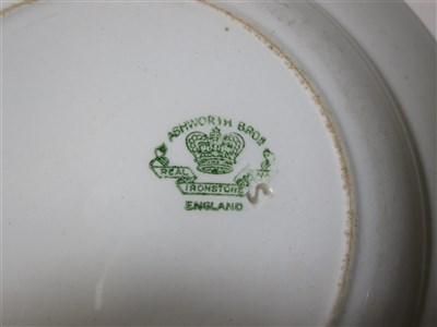 Lot 17-BRITISH INDIA STEAM NAVIGATION COMPANY: IRONSTONE CHINA SOUP PLATE BY ASHWORTH BROS. ENGLAND, CIRCA 1920
