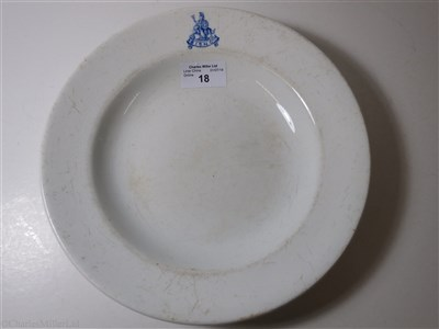 Lot 18-BRITISH INDIA STEAM NAVIGATION COMPANY: IRONSTONE SOUP PLATE CIRCA 1920