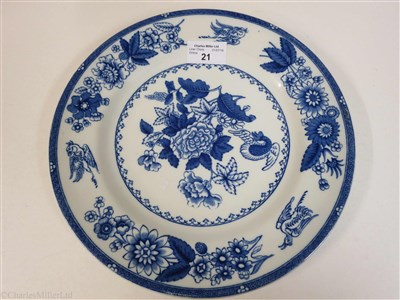 Lot 21-CANADIAN PACIFIC: A 'HERON' PATTERN CHINA DINNER PLATE BY COPELAND, ENGLAND, CIRCA 1913