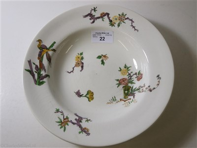 Lot 22-CANADIAN PACIFIC: 'EMPRESS' PATTERN CHINA SOUP PLATE BY GRINDLEY, ENGLAND, CIRCA 1932
