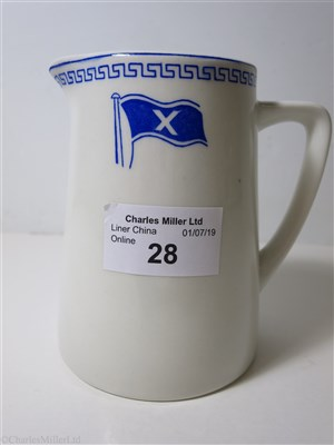 Lot 28-CHANDRIS LINES: CHINA JUG BY MADDOCK, ENGLAND, CIRCA 1960