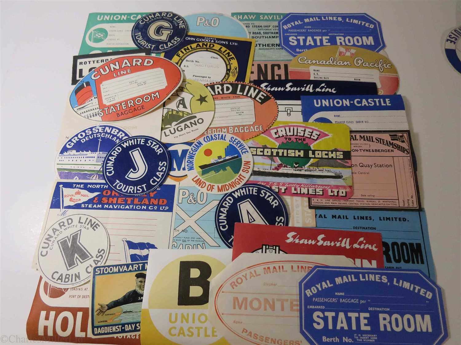 Lot 29-A QUANTITY OF LUGGAGE LABELS