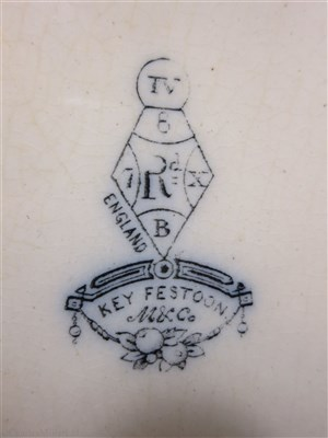 Lot 30-COMPANIA SUDAMERICANA DE VAPORES: A 'SEINE' PATTERN CHINA OVAL PLATE, CIRCA 1872