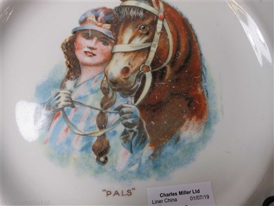 "Lot 31-CUNARD: A ""PALS"" PATTERN 'SILICON CHINA' PLATE BY BOOTHS LTD. ENGLAND, CIRCA 1910"