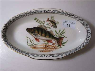 Lot 36-CUNARD: AN OVAL 'AQUITANIA' PATTERN DISH BY BOOTHS & COLCLOUGHS LTD, ENGLAND, CIRCA 1936