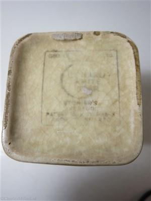 Lot 41-CUNARD WHITE STAR: A THIRD CLASS WHITE GLAZE CUBE JUG BY CLEWS & CO. LTD. TUNSTALL, CIRCA 1935