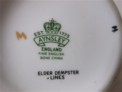 Lot 45-ELDER DEMPSTER: A FLORAL PATTERN PORCELAIN TEAPOT BY AYNSLEY, ENGLAND, CIRCA 1960