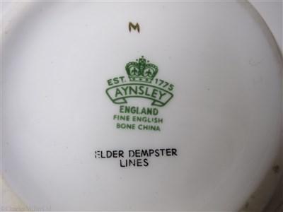 Lot 46-ELDER DEMPSTER: A FLORAL PATTERN PORCELAIN TEAPOT BY AYNSLEY, ENGLAND