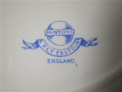 Lot 47-BRITISH & AFRICAN S.S. CO. (ELDER DEMPSTER & Co.). LTD.: A 'KEY FESTOON' PATTERN DINNER PLATE BY MINTONS, CIRCA 1870