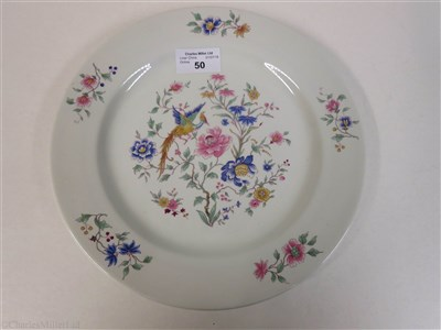 Lot 50-FURNESS BERMUDA LINE: A 'BIRD OF PARADISE' PATTERN CHINA PLATE BY ROYAL DOULTON, CIRCA 1932