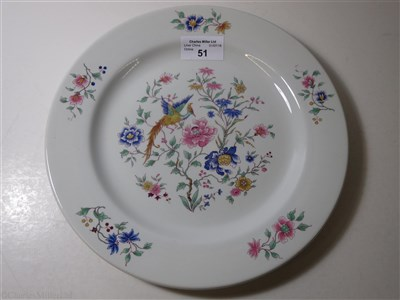 Lot 51-FURNESS BERMUDA LINE: 'BIRD OF PARADISE' PATTERN CHINA PLATE BY ROYAL DOULTON, CIRCA 1932