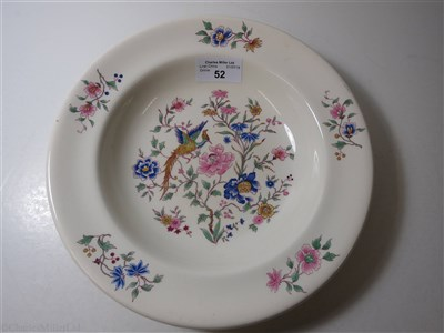 Lot 52-FURNESS BERMUDA LINE: 'BIRD OF PARADISE' PATTERN CHINA SOUP PLATE BY ROYAL DOULTON, CIRCA 1932