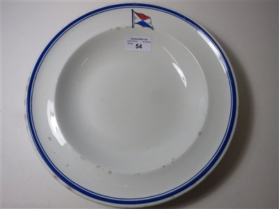 Lot 54-GALBRAITH PEMBROKE & COMPANY: A CHINA SOUP PLATE BY FURNIVAL, CIRCA 1895