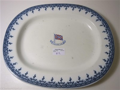 Lot 62-JOHNSTON LINE: AN OVAL SERVING PLATE BY D.A.S. NESBITT & CO., CIRCA 1895