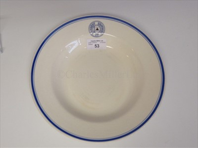 Lot 65-LAMBERT BROTHERS LIMITED: A CHINA SOUP PLATE BY BRISTOL, CIRCA 1858