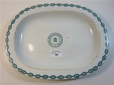 Lot 70-LIVERPOOL BRAZIL & RIVER PLATE STEAMER NAVIGATION Co. (LAMPORT & HOLT): AN IRONSTONE PLATTER BY ASHWORTH & BROS., HANLEY, CIIRCA 1865