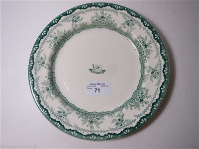 Lot 71-MANCHESTER LINERS LIMITED: A DINNER PLATE BY DUNN BENNETT & CO. LTD., CIRCA 1910