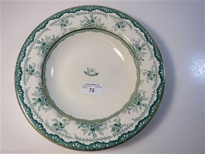 Lot 72-MANCHESTER LINERS LIMITED: A SOUP PLATE BY DUNN BENNETT & CO. LTD., CIRCA 1910