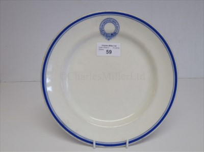 Lot 73-MANCHESTER LINERS LIMITED: A DINNER PLATE BY DUNN BENNETT & CO. LTD., CIRCA 1920