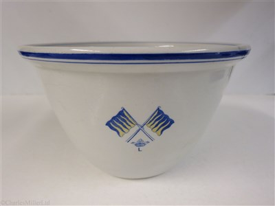 Lot 74-MARQUESS OF LONDONDERRY: A CHINA PUDDING BOWL, CIRCA 1880