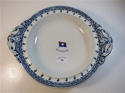 Lot 75-NEW YORK & SOUTH AMERCA LINE: AN OVAL SERVING PLATE BY D.A.S. NESBITT & CO. LIVERPOOL, CIRCA 1891