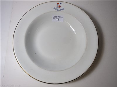 Lot 76-NEW ZEALAND SHIPPING COMPANY LTD: A WHELDON WARE SOUP PLATE BY F. WINKLE & Co LTD, CIRCA 1914