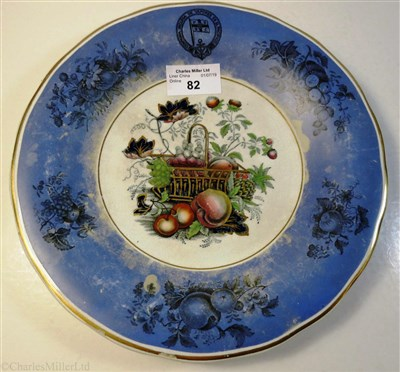Lot 82-PACIFIC STEAM NAVIGATION COMPANY: A DINNER PLATE BY J. STONIER CIRCA 1845-1858
