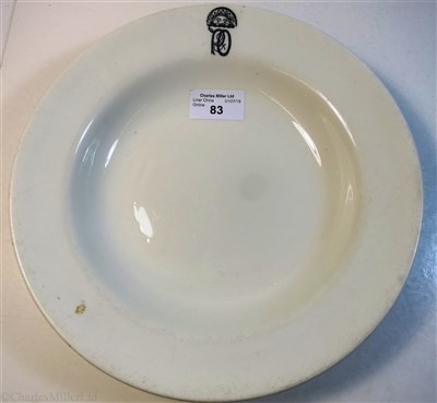 Lot 83-P&O: A THIRD CLASS SOUP PLATE BY BAKEWELL BROS. LTD, CIRCA 1900