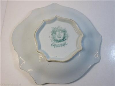 Lot 84 - P&O: A 'CALEDONIA' PATTERN IRONSTONE SERVING PLATE BY RIDGEWAY, MORLEY, WEAR & Co., CIRCA 1846
