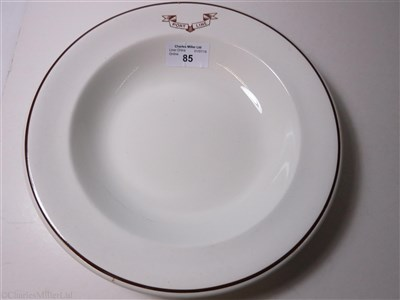 Lot 85-PORT LINE: A SOUP PLATE BY FURNIVALS, CIRCA 1913