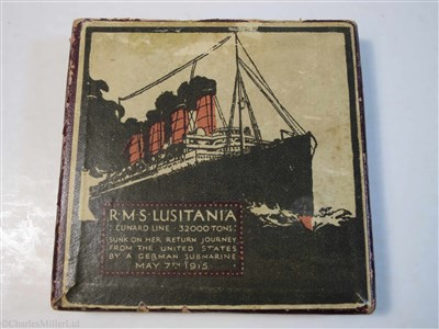 "Lot 86-AN ENGLISH IRON RE-STRIKE MEDALLION OF THE GERMAN ""LUSITANIA"" MEDAL, CIRCA 1915"