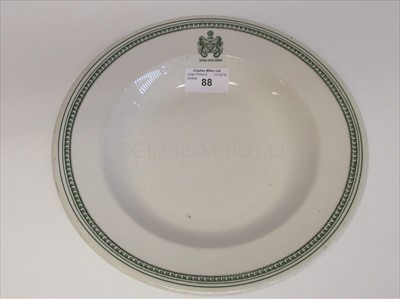 Lot 88-ROYAL MAIL LINES:  A CHINA SOUP PLATE BY WOOD & SONS LTD, CIRCA 1930