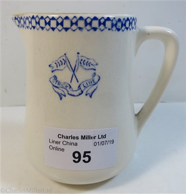 Lot 95-STRICK LINE:  A CHINA MILK JUG BY C. McD. MANN & CO. LTD., CIRCA 1910