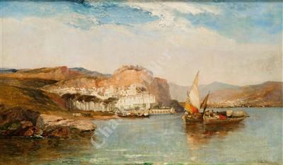 Lot 17-ARTHUR JOSEPH MEADOWS (BRITISH, 1843-1907) Near Amalfi, Gulf of Salerno, Italy