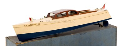 Lot 30-AN ELECTRIC DAY CRUISER IOLANTHE II BY BASSETT-LOWKE, CIRCA 1935