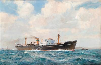 Lot 26-δ ARTHUR BURGESS (BRITISH, 1879-1957) M.V. 'Irish Pine' 1948