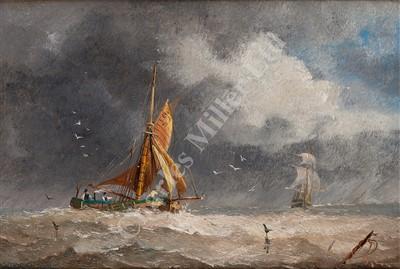 Lot 19-ENGLISH SCHOOL, CIRCA 1870 Studies of barges at sea