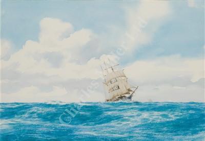Lot 8-δ JOHN CHANCELLOR (1925-1984) A clipper under sail