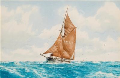 Lot 9-δ JOHN CHANCELLOR (1925-1984) The 'Sanspareil' (BM326) passing the Wolf Rock Light