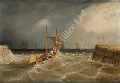 Lot 18-ATTRIBUTED TO GEORGE CHAMBERS, SENIOR (BRITISH, 1803-1840)The Harbour Entrance