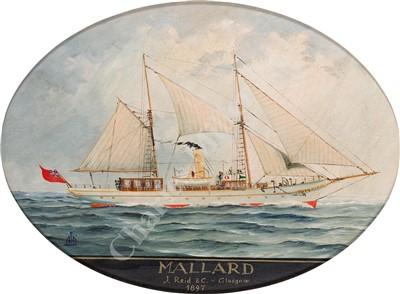 Lot 25-CONTINENTAL SCHOOL, 20TH CENTURY Studies of vessels comprising: 'Mallard'; 'Ipparco Baccich'; 'Enchantress'; 'Hirondelle II'; 'St. Michaels'; 'Gimcrack'; 'Nave Carboniera'; 'Freelance'