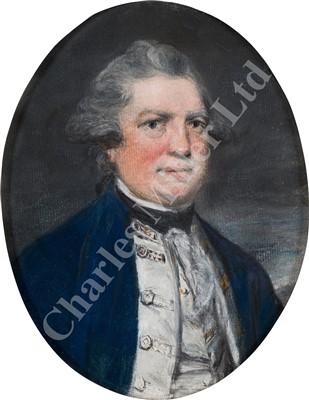 Lot 35-DANIEL GARDNER (BRITISH, 1750-1805) Half length portrait of Admiral Keppel in undress uniform, circa 1780