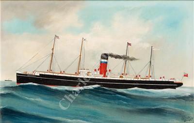 Lot 13-HARRY J. JANSEN (BELGIAN/DUTCH, c1895-1930) S.S. 'Oakmore' of Liverpool