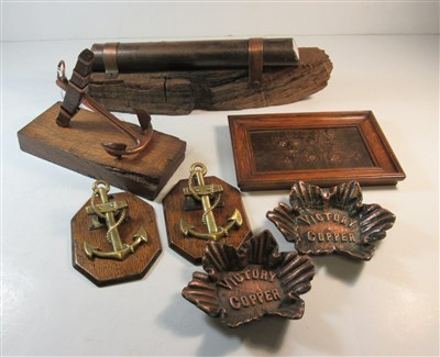 Lot 38-A COLLECTION OF VICTORY COPPER AND TREEN