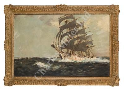 Lot 23-ARTHUR BRISCOE (BRITISH, 1873-1943) The 'Grace Harwar' under full sail