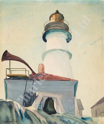 Lot 28-δ SANDOR BERNATH (HUNGARIAN, 1892-1984/9) Portland Head Lighthouse, Maine