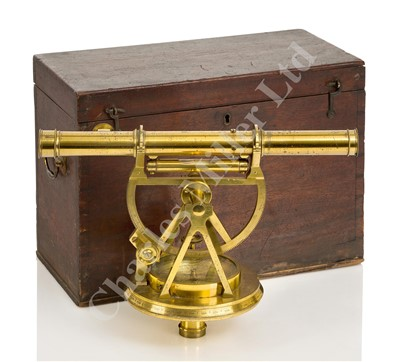 Lot 274 - A FINE AND ORIGINAL LATE 18TH CENTURY THEODOLITE BY W. & S. JONES, HOLBORN, LONDON
